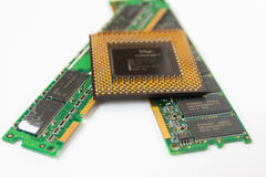 电子计算机板组分 库存图片