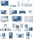电子设备图标集合向量 免版税库存照片