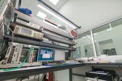 电子设备的测试和调整的实验室 库存图片