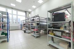 电子设备的测试和调整的实验室 免版税图库摄影