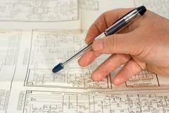 电子设备的绘制 免版税图库摄影