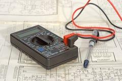 电子设备的绘制 免版税库存照片