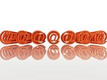 电子邮件互联网multimple符号 免版税图库摄影