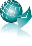 电子邮件全球例证 免版税库存照片
