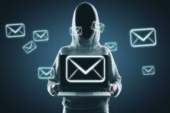 电子邮件和乱砍概念 免版税库存照片