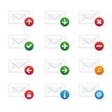 电子邮件图标集 库存例证
