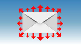 电子邮件图标 免版税库存图片