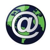 电子邮件地球向量 库存照片