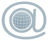 电子邮件地球符号 免版税库存照片