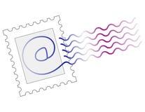电子邮件标记印花税 免版税库存照片