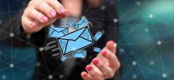 电子邮件的概念 免版税库存图片