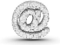 电子邮件符号,专栏文献字体 免版税图库摄影