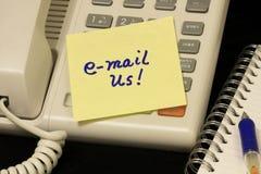 电子邮件给我们打电话voip 库存图片