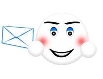电子邮件面带笑容 免版税库存图片