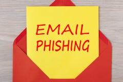 电子邮件phishing的警告概念 库存照片