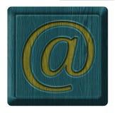 电子邮件包围图标邮件开放接受 免版税库存照片