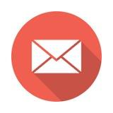电子邮件包围图标邮件开放接受 免版税库存图片