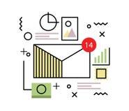 电子邮件和大数据概念 免版税图库摄影