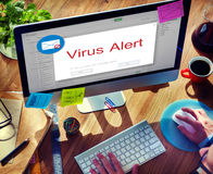 电子邮件弹开警告窗口概念 免版税库存照片