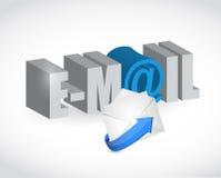 电子邮件文本信封例证设计 免版税库存图片