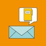 电子邮件文件夹目录书设计 向量例证