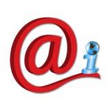 电子邮件是现代方式在worl附近转移信息 库存照片