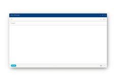 电子邮件空白的模板 库存照片