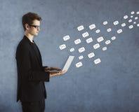 电子邮件网络概念 库存图片