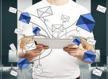 电子邮件网络概念 免版税库存照片