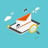 电子邮件营销概念 流动营销,电子邮件广告, 免版税库存图片