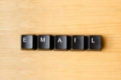 电子邮件词 库存照片