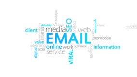 电子邮件,印刷术动画 库存例证