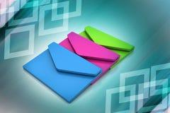 电子邮件,通信概念 免版税库存图片