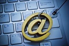 电子邮件phishing的攻击 库存图片