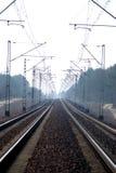 电子铁路跟踪 库存图片
