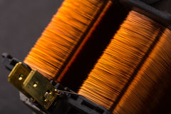 电子铜变压器 免版税库存图片