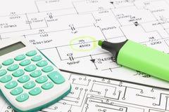 电子项目设计  免版税库存图片
