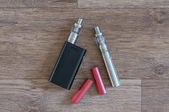电子香烟batterys是特写镜头 库存图片