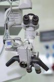 000 300电子头发增量实验室显微镜人员屏幕倍 库存照片