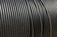 电子黑色的电缆 库存图片