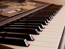 电子琴键 图库摄影