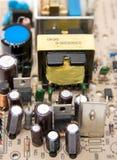 电容器筹码计算机 库存照片