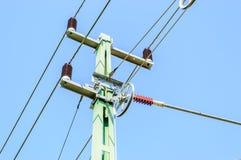 电导线杆 免版税库存照片