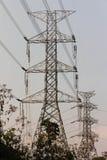 电岗位缆绳建筑 库存图片