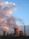 电工厂关闭蒸汽 库存照片