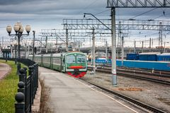 电市郊火车 图库摄影