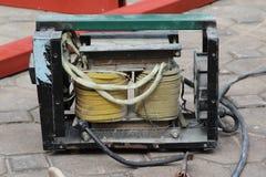 电弧焊接机器 免版税库存图片