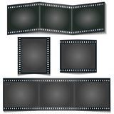 电影与在白色背景隔绝的阴影的foto条纹 库存例证