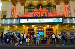 电影世界的英属黄金海岸昆士兰澳大利亚Roxy剧院 免版税图库摄影