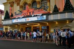 电影世界的英属黄金海岸昆士兰澳大利亚Roxy剧院 库存照片